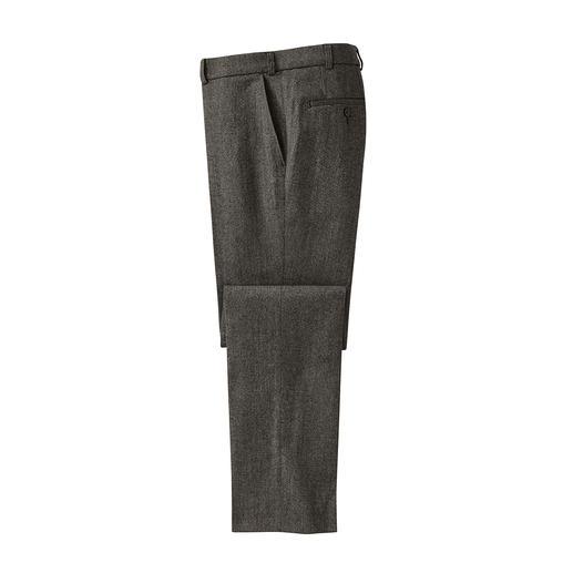 Soft-Donegal broek - Origineel Donegal-tweed. Onvergelijkbaar zacht dankzij 46% katoen. Met markante noppenstructuur.