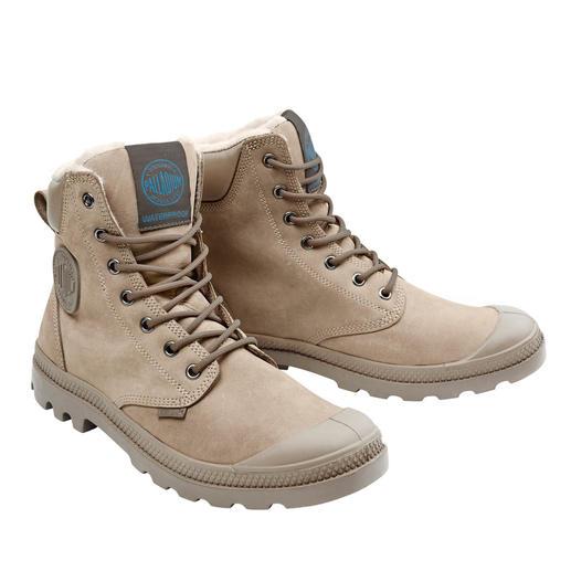 Palladium waterproof leren boots Populair sinds 1947. Nu weer helemaal in de mode: originele Palladium-boots.