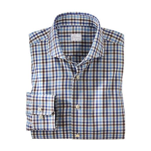 Dorani overhemd van licht flanel Zacht en warm als flanel maar veel lichter, fijner en beter te combineren. Van het allerfijnste lichte flanel.