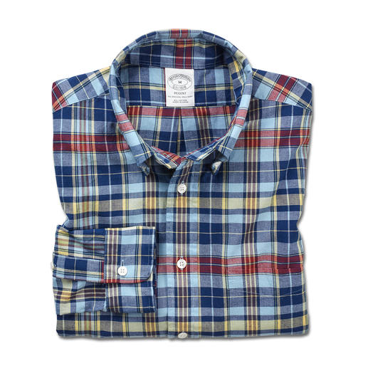 Brooks Brothers Madras- overhemd Origineel Madras-overhemd – traditioneel met de hand geweven in India. Verwerkt door Brooks Brothers.
