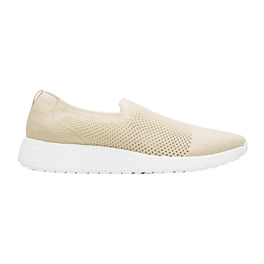 Swims dames-slip-ons in zomerbreisel Trendy sneakers en wet shoes in één: modieuze gebreide instappers van Swims uit Noorwegen.