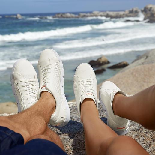 Swims Wash & Wet-sneakers Machinewasbaar. Bestand tegen zout water. Sneldrogend. Van Swims, Noorwegen. Witte sneakers.