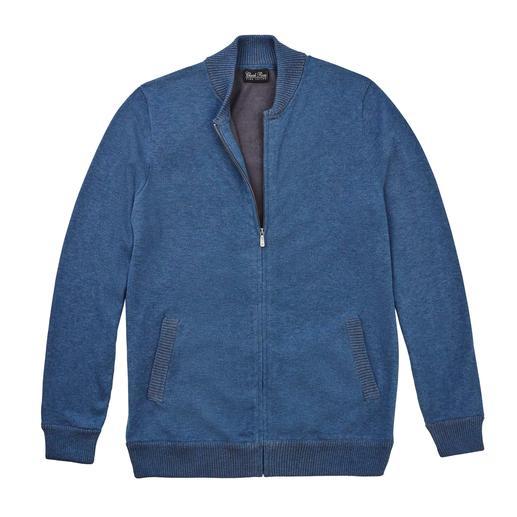 Vest van Pima-katoen Net zo modieus als een blouson, maar veel comfortabeler. Vest van handgeplukt Peruaans Pima-katoen.