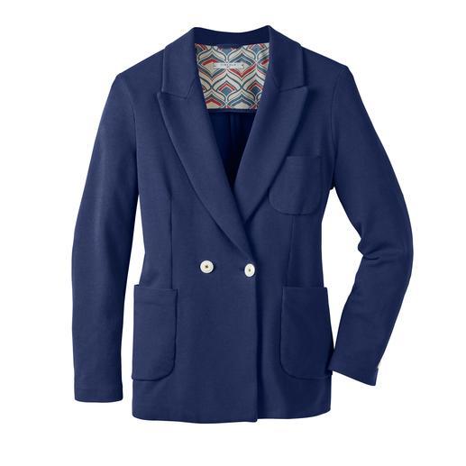 Circolo 1901 blazer van zomerjersey Elegant als een blazer, comfortabel als een vest. Gebreide jersey, klassiek verwerkt. Van Circolo 1901.