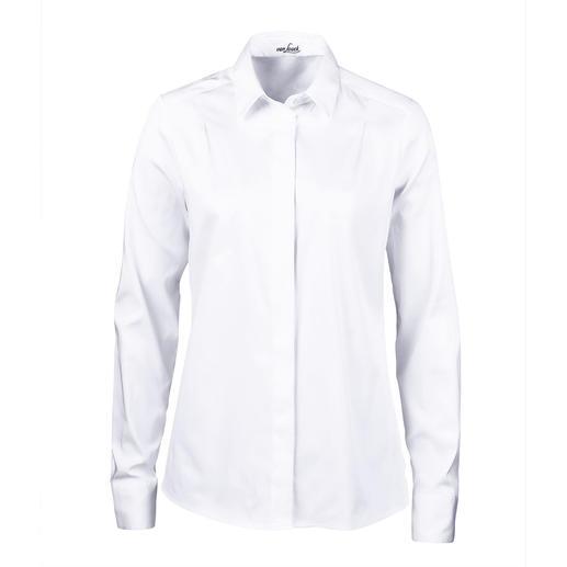 van Laack geplisseerde overhemdblouse Vrouwelijker en eleganter dan de meeste andere exemplaren: overhemdblouse met geplisseerde achterkant.