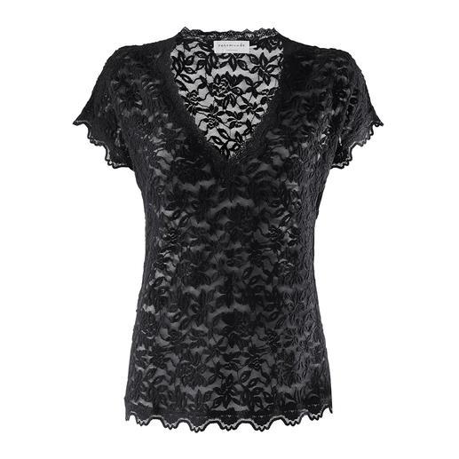 Rosemunde Copenhagen kanten shirt Onderhoudsarm als een T-shirt, chic als een blouse. Van Rosemunde Copenhagen.