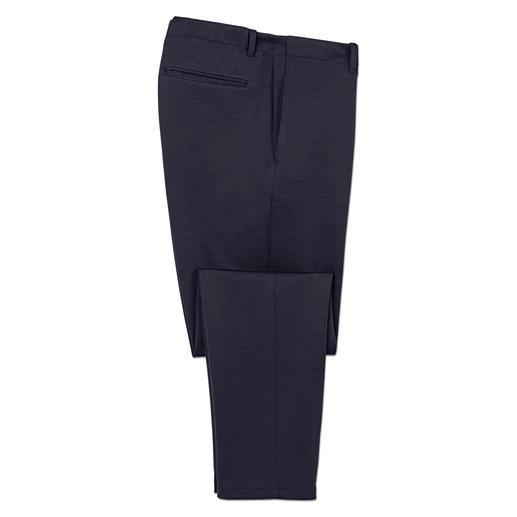 Hiltl comfortbroek van kostuumstof Elegant als een nette broek. Comfortabel als een trainingsbroek. Van Hiltl, Duitsland.