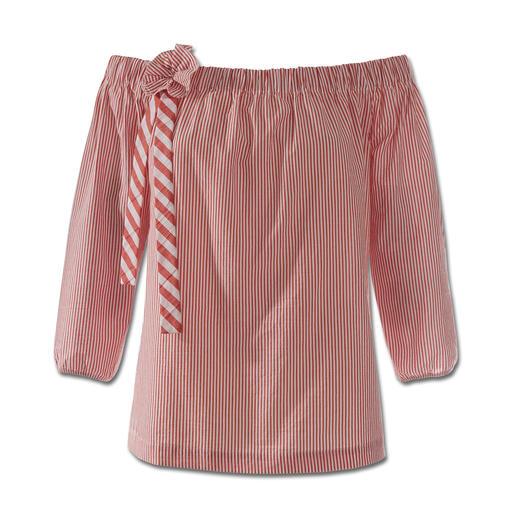2XM blouse met carmenhals Ons goed bewaarde geheim voor modieuze blouses in volwassen stijl: het nieuwe Duitse merk 2XM.