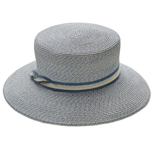Mayser strokenhoed Van aan elkaar genaaide stevige stroken van linnen- en hennepvezels. Van Mayser, hoedenproducent sinds 1800.