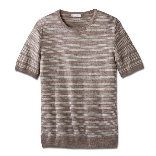 Gran Sasso gebreid shirt van linnen Heel aangenaam in het dragen – en toch zo moeilijk te vinden: het chique shirt van gebreid linnen.