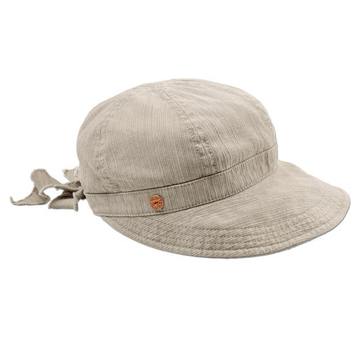 Mayser pet voor dames Zo elegant kan een katoenen pet zijn. Van Mayser, de traditionele Duitse hoedenproducent sinds 1800.