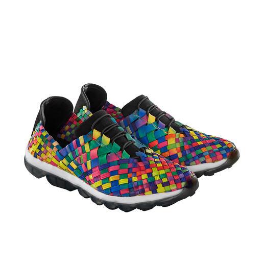 bernie mev. gevlochten sneakers De modesensatie uit Amerika: gevlochten sneakers, van 'Master of woven Footwear', bernie mev. New York.