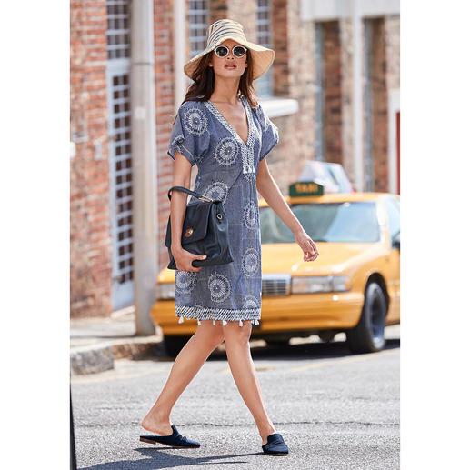 LulaSoul geborduurde jurk in etnostijl - Kunstig geborduurd in plaats van opvallend bedrukt: chique jurk in etnostijl van het trendlabel LulaSoul.