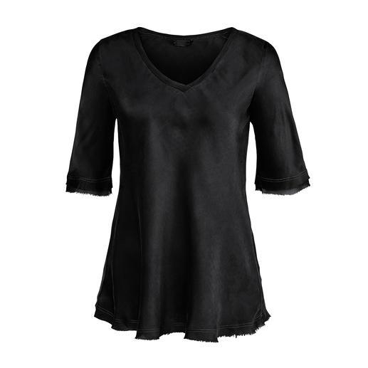 SevenDayWonder zijden shirt Niet te elegant en niet te sportief: altijd mooi shirt van soepele, zachte moerbeizijde. Van SevenDayWonder.