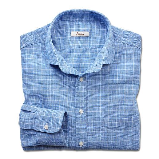 Ingram zakelijk overhemd in linnenmix Een mooi combinatiemodel voor kantoor en vrije tijd: overhemd met klassiek glencheck-dessin.