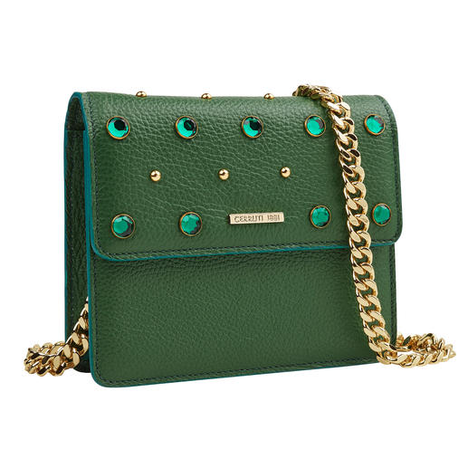 18CRR81 Cerruti Green mini bag Ook in de trendkleur groen heel elegant: mini bag van 18CRR81 Cerruti.