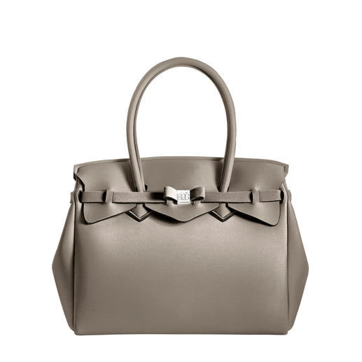 Superlichte tas Klassieke look, innovatief materiaal: deze superlichte handtas weegt slechts 380 gram. Par Save My Bag.