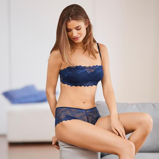 bandeau-BH en boxerslip, blauw