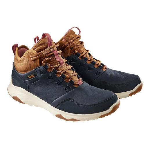 Teva® waterdichte leren sneaker Licht en ademend als een wandelschoen. Waterdicht als een rubberen laars. Van Teva®.