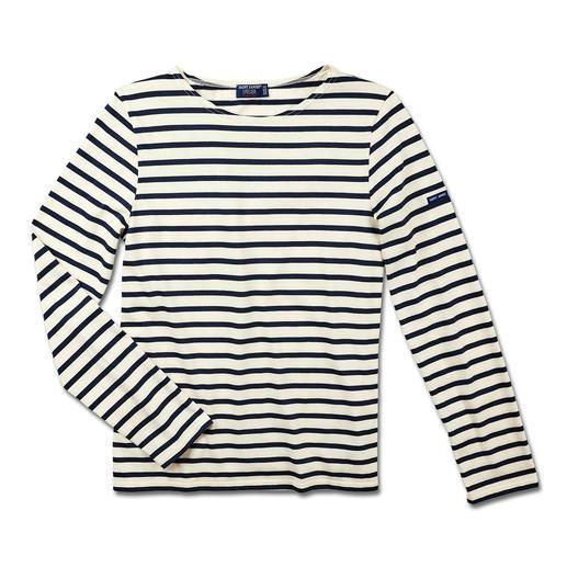 Bretagne-shirt met lange mouwen of T-shirt voor heren Het originele Bretagne-shirt. Visserstraditie sinds de 19e eeuw. Van Saint James, Frankrijk.