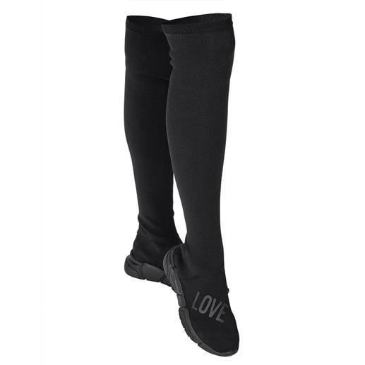 Love Moschino gebreide overknee- laarzen Modieuze overknee-laarzen: bij Love Moschino extra trendy door het breisel en de sneakerzool.