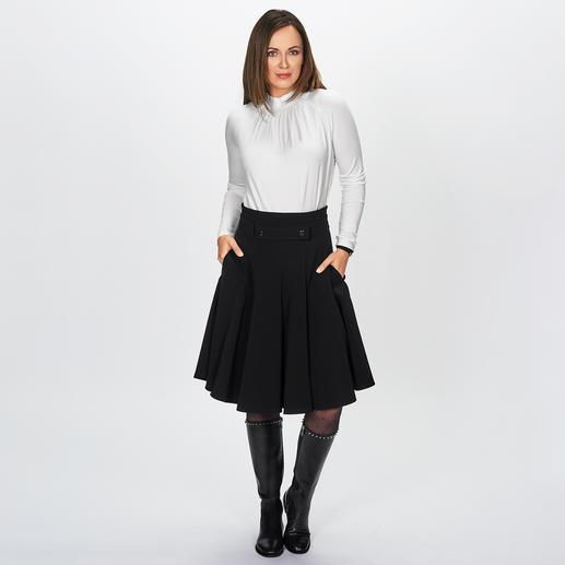 Strenesse blouseshirt Elegante blouse-look. Comfortabel als een T-shirt. Ongecompliceerde basic longsleeve, van Strenesse.