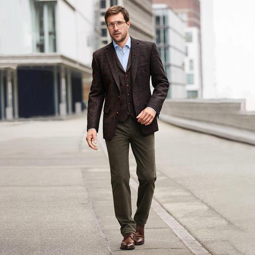 Carl Gross Harris Tweed-colbert of -gilet Originele Harris Tweed van de Buiten-Hebriden – maar veel fijner en lichter dan normaal. Van Carl Gross.