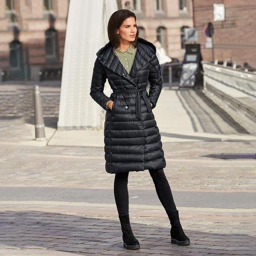 Pajar® lange donzen jas Modieus dons dat niet dik maakt: elegante lange jas van licht dons, van het Canadese topmerk Pajar®.