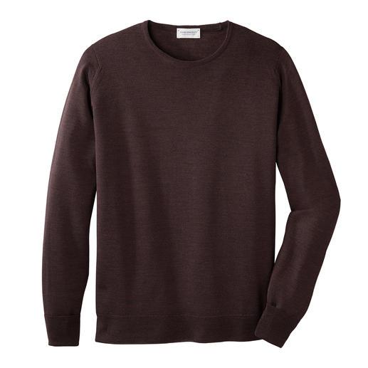 John Smedley trui met ronde hals Deze merinostrui van John Smedley weegt minder dan 300 gram. En past in elk koffertje.