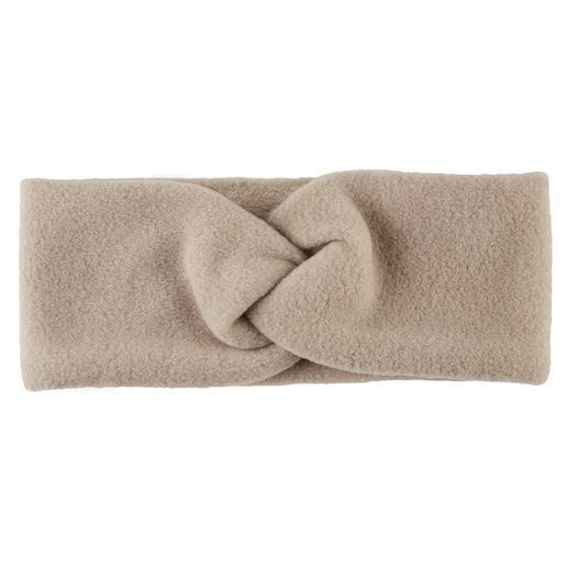 Loevenich maakt van sportieve fleece een elegant modeaccessoire. Loevenich maakt van sportieve fleece een elegant modeaccessoire. Hoofdband met stijlvol knoopdetail.