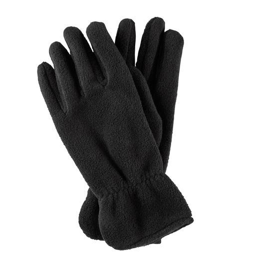 Loevenich vingerhandschoenen van fleece Warme Polartec®-fleece – geconfectioneerd als chique leren handschoenen.