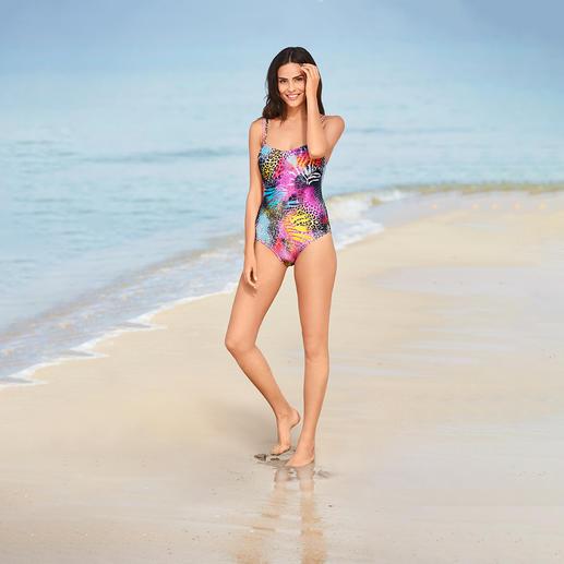 SunSelect®-zwempak 'Pink Animal' Dit badpak werkt als een goede zonnebrandcrème. Gemaakt van zondoorlatend SunSelect®.