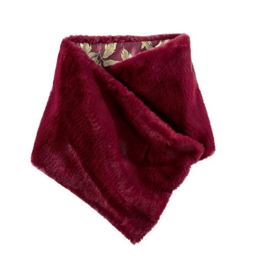 Mason's Fake-Fur-sjaal Tweevoudig de trend. Italiaans Design. De Fake Fur-sjaal van Mason's.