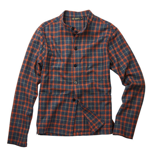 Hollington Tyrol-overshirt Hollingtons klassieke Tyrol-jacket. Legendarisch design. Moderne ruiten. Extra warme wolflannel.