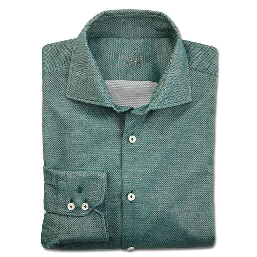 van Laack verzorgd flanellen overhemd Met klassieke cut-awaykraag en fijn visgraatdessin, van licht flanel dat ideaal is onder een colbert.