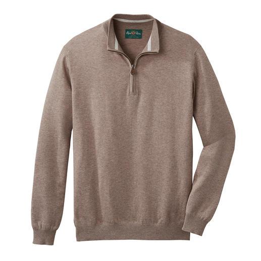Zeer chic en geschikt om het hele jaar te dragen. Zeer chic en geschikt om het hele jaar te dragen. Fijngebreide schipperstrui van Pima Cotton.
