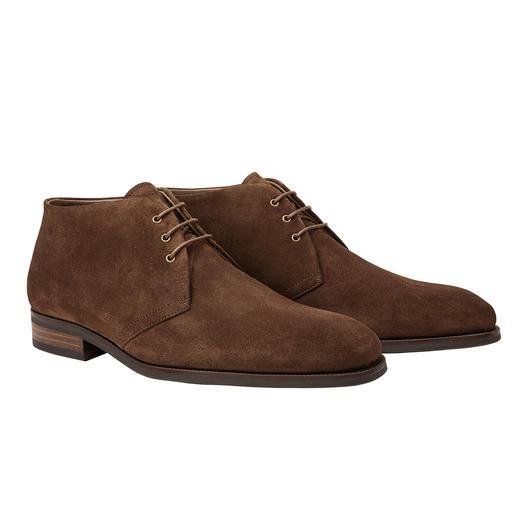 Profession Bottier chukka boots met lamsvacht Zo modieus smal en elegant kunnen warme schoenen met lamsvacht zijn.