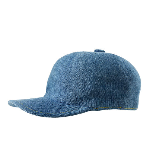Kangol® pet van denim - Luchtig breisel. Casual denim-look. De pet van de Engelse hoedenmaker Kangol®, sinds 1938.