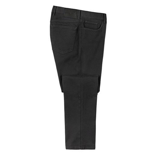Hiltl structuurbroek Comfortabel als jersey, maar veel steviger en robuuster. Smalle 5-pocketsbroek van Italiaans 3D-weefsel.