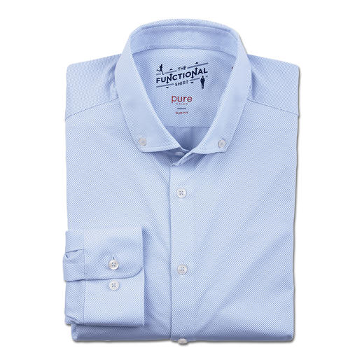Hatico Functioneel businesshemd Een goede zakelijke look. Bi-elastisch. Warmteregulerend. Sneldrogend. Ademend.