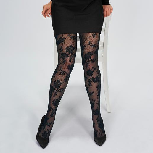 Oroblu Floral netpanty Modieuze panty's hoog 2: bloemenpatroon + net. Made in Italy. Van Oroblu. Topkwaliteit voor een goede prijs.