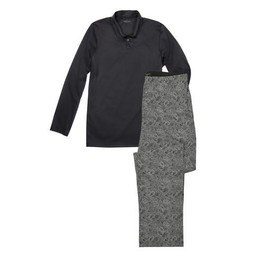 Novila gentleman- pyjama Heerlijk zacht shirt + een broek van gemerceriseerde katoenen interlock. Van Novila.