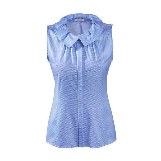 van Laack mouwloze blouse van Laack's sierkraag past perfect in de huidige trend. Een mouwloze blouse gemaakt van gemerceriseerde katoen.