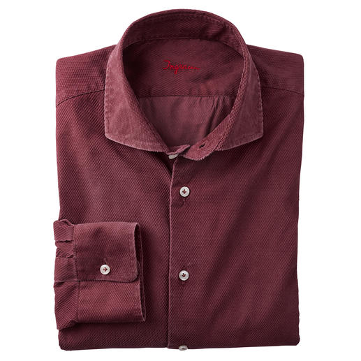 Ingram gestructureerd fluwelen overhemd Veel geschikter voor dagelijks gebruik (en modieuzer) dan de meeste andere overhemden van fluweel.