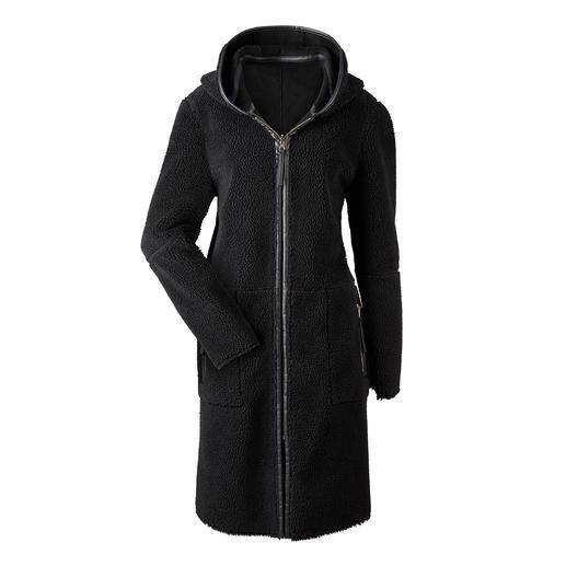 Betta Corradi omkeerbare jas van imitatiebont Nauwelijks te onderscheiden van echt suède. De betaalbare designerjas van de specialist Betta Corradi.