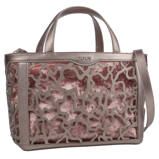 Tous lasercut-tas, noga-metallic Trendy metallicstijl. Modieuze lasercut. Variabele look.