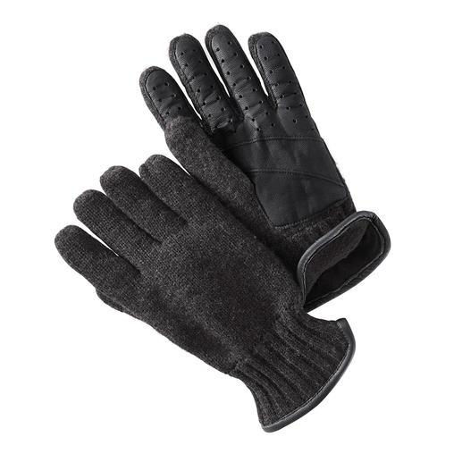 Gebreide handschoenen met nappaleer Warm en winddicht, elegant en elastisch: alle kenmerken van een goede handschoen. Van Otto Kessler.