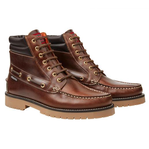 Snipe mocassin-boots Altijd mooi design. Traditionele mocassinstijl. Waterafstotend leer. De originele Terra-boots van Snipe.