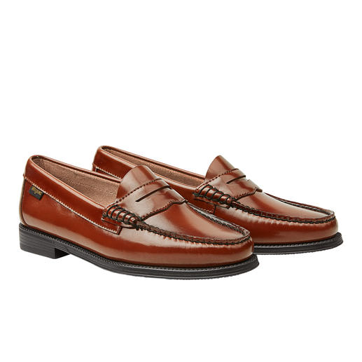 G. H. Bass pennyloafers 'Weejuns', cognac - Pennyloafers, de enige echte. De 'Weejuns' van G. H. Bass & Co uit Maine/USA.