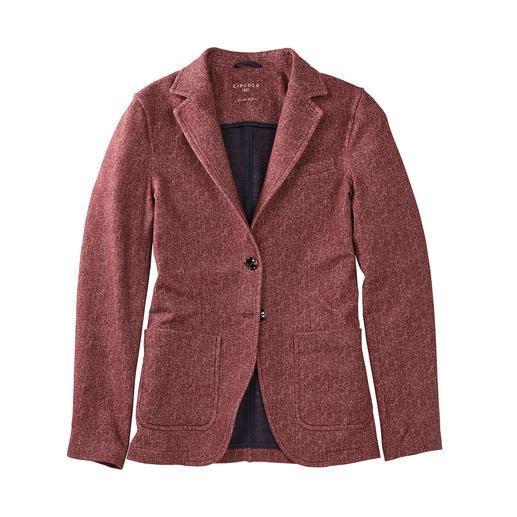 Circolo 1901 jerseyblazer met visgraatdessin Zo elegant als een blazer, zo comfortabel als een vest. Van Circolo 1901.